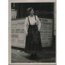 1922 Press Photo Finland delegate, Marie Stenroth at W.C.T.U convention in P.A.
