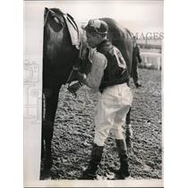 1939 Press Photo Johnny Oros. 17 year old Jockey Apprentice, Bowie Track