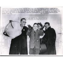 1927 Press Photo Jose Alfonso Family, arrival at Miami