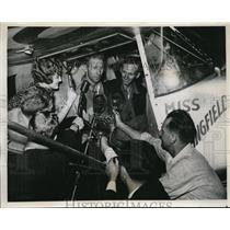1939 Press Photo Springfield, Ill pilots Hunter & Humphrey Moody,Mrs Moody