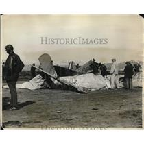 1928 Press Photo Four men killed in a plane collision at San Diego.