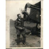 1924 Press Photo Lieutenant Walter Sutter Elizabeth New Jersey Pilot