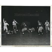 1941 Press Photo Howard Yeager, New York Giants Vs. College All Stars