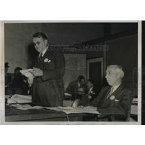 1937 Press Photo South Trimble Jr, Dept of Commerce & Maj RW Schroeder