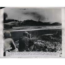 1950 Press Photo American combat patrol in Korea near Han River