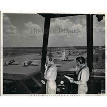 1941 Press Photo Randolph Field. Tx, Army Air Corps flyer training - nem03769