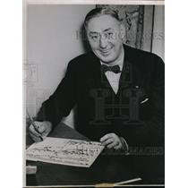 1941 Press Photo Francis A. Schmidt, mentor of the varsity of Idaho vandals.