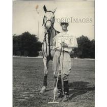 1921 Press Photo Col Silva, Capt of the Cuban Army Polo team