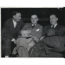 1933 Press Photo Bill McKechnie of Boston & Max Cary of Brooklyn at Conference