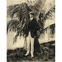 1924 Press Photo C. Bascom Slemp, Secretary to the President. Miami, Florida