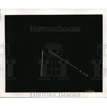 1949 Press Photo Airport Slope Line Approach Lights Glow On Runway At Night