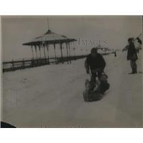 1920 Press Photo Jackie Riding Roman Racer