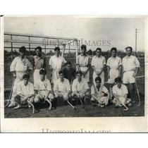 1932 Press Photo Japanese Olympic Field Hockey Team Practice Outside Tokyo
