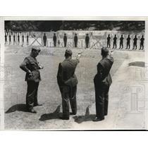 1932 Press Photo 3 members of Italian team target range. Lost Angeles, Ca.