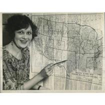 1924 Press Photo Ruth Seibt San Francisco Radio Show