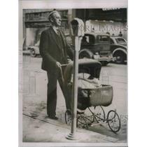 1937 Press Photo Perambulator Parking Knoxville Baby Buggy