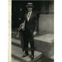 1923 Press Photo Col. Eugenio Silva of the Cuban Army in Washington,