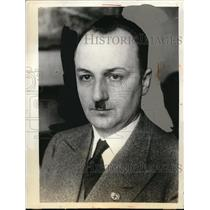 1933 Press Photo Dogobert Dufrr, Editor of Der Angriff, Chief of Press Relations
