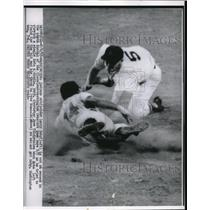 1955 Press Photo Washington Indians outfielder Larry Doby - nes13805