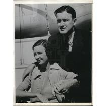 1934 Press Photo Joe Cronin Manager Washington Senators Newlyweds Bride Mildred