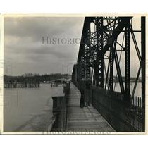 1939 Press Photo Gilbertsville Dam George Jessup, L.E. McHenry General Foreman