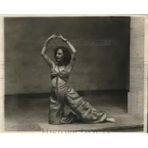 1928 Press Photo Sara Sherbarne in plat Hassan at Harvard Dramatic Club