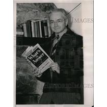 1941 Press Photo Camp Director Ernest Wildman in Patapsco State Park - nec62984