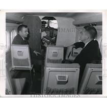 1968 Press Photo Aboard an airplane with Captain in cabin