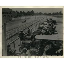 1931 Press Photo Earl Cooper Winning Del Monte Race in Elbert Hall Race Car