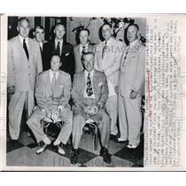 1950 Press Photo Chicago All Star Phila Eagles, Wilson, Reiger,Blake - nec65539