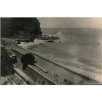 1918 Press Photo St Helena Island, seafront and wet rocks by Jackson