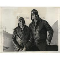 1931 Press Photo Capt. Enrique Valverdez with Henry Ottinger in New York