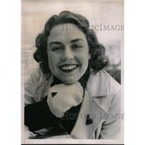 1937 Press Photo Florence Allen Queen Of Dartmouth Ice Carnival - nec68033