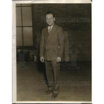 1927 Press Photo Irwin Dickstein Monroe High Basketball Team Coach - nec69583