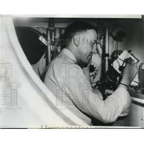 1933 Press Photo Lt Cmdr TGW Settle for stratosphere balloon flight
