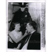1957 Press Photo AE Garrison Irene Wright Bay Wright Shot Down Edward Appleton