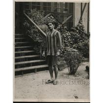 1920 Press Photo Famous Hindu Marathon Runner P.D. Chougule