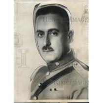 1927 Press Photo General Jose Alvarez Chief of Staff Mexican staff
