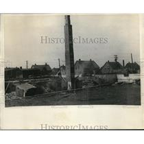 1925 Press Photo Store and Warehouse of British Emoire Steel Corp During Strike
