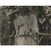 1919 Press Photo Mrs. Ogden L Mills, Mrs. Arthur Scott Burden at Polo Match