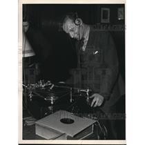 1937 Press Photo Boris Goldovsky, director of the Singers Club listens