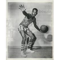 1950 Press Photo Joshua Grider Harlem Globetrotters foward - nes17694
