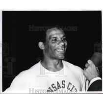 1970 Press Photo Kansas City Chiefs player Mike Garrett - nes17833