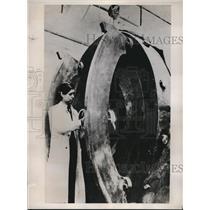 1935 Press Photo Professor Evedher Nobel prize for physics