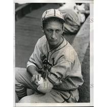 1938 Press Photo Orville Paul St Louis Cardinals practice pitcher - nes19457