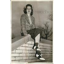 1940 Press Photo Miss Mary Sherriff of Sharon Pa gets pilot's liscense