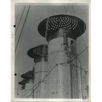 1932 Press Photo USS Stoddert operating against air attacks