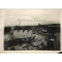 1912 Vintage Press Photo View Spillway Gatun Lock Panama Canal