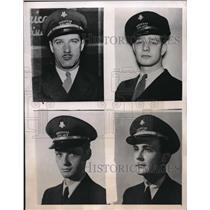 1946 Press Photo San Diego Cal. MAx L Fire,Capt Gabriel,E Baker, American Airlin