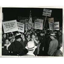 1938 Press Photo LA Calif 1st Natl Convention of Nazis at Deutsches Haus